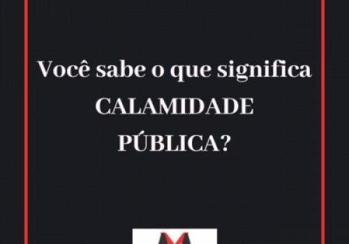 Significado de calamidade pública