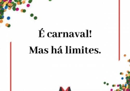 Existem limites no carnaval?