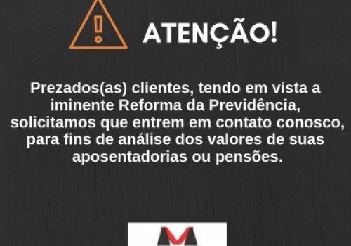 COMUNICADO PARA OS(AS) CLIENTES