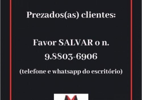 Lista de transmissão whatsapp do escritório: 83-9.8803-6906