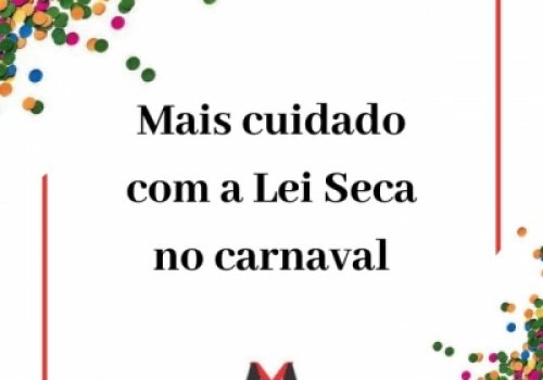 Lei Seca e carnaval