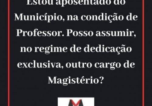Acumulação de 02 cargos de Professor e regime de dedicação exclusiva